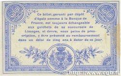 50 Centimes FRANCE régionalisme et divers LIMOGES 1914 JP.073.01var. SUP