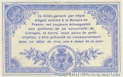 50 Centimes FRANCE régionalisme et divers Limoges 1914 JP.073.02 SUP+