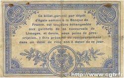 50 Centimes FRANCE régionalisme et divers Limoges 1914 JP.073.08 TB