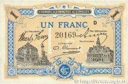 1 Franc FRANCE régionalisme et divers LIMOGES 1914 JP.073.22 SUP+