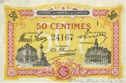 50 Centimes FRANCE régionalisme et divers Limoges 1918 JP.073.23 TTB