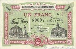 1 Franc FRANCE régionalisme et divers LIMOGES 1918 JP.073.24 SUP