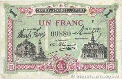 1 Franc FRANCE régionalisme et divers LIMOGES 1918 JP.073.24 TTB