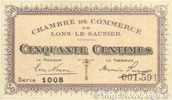 50 Centimes FRANCE régionalisme et divers LONS-LE-SAUNIER 1918 JP.074.01 SUP+