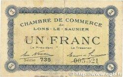 1 Franc FRANCE régionalisme et divers LONS-LE-SAUNIER 1918 JP.074.05 TB