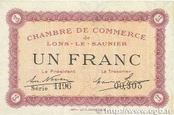 1 Franc FRANCE régionalisme et divers LONS-LE-SAUNIER 1918 JP.074.13 SUP