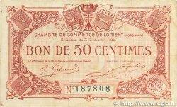 50 Centimes FRANCE régionalisme et divers LORIENT 1915 JP.075.01 pr.TTB