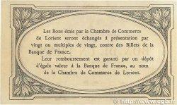 1 Franc FRANCE régionalisme et divers LORIENT 1915 JP.075.09var. SUP+