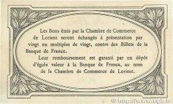 2 Francs FRANCE régionalisme et divers LORIENT 1915 JP.075.12var. SUP+
