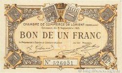 1 Franc FRANCE régionalisme et divers LORIENT 1915 JP.075.15 SUP+