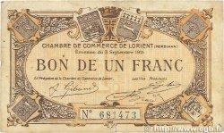 1 Franc FRANCE régionalisme et divers Lorient 1915 JP.075.15 TB
