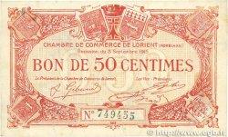 50 Centimes FRANCE régionalisme et divers LORIENT 1915 JP.075.17 TTB+