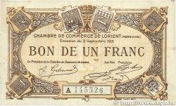 1 Franc FRANCE régionalisme et divers LORIENT 1915 JP.075.21 TTB