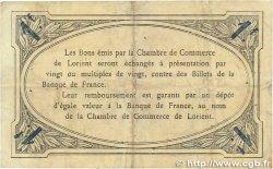 1 Franc FRANCE régionalisme et divers Lorient 1915 JP.075.24 TTB