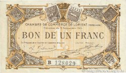 1 Franc FRANCE régionalisme et divers Lorient 1915 JP.075.27 TTB+