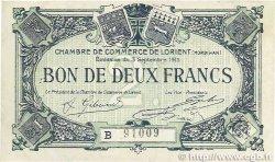 2 Francs FRANCE régionalisme et divers LORIENT 1915 JP.075.28 TTB+