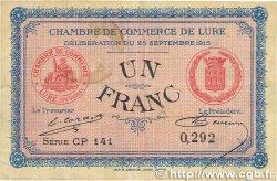 1 Franc FRANCE régionalisme et divers LURE 1915 JP.076.16 TTB