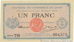 1 Franc FRANCE régionalisme et divers LYON 1914 JP.077.01 SPL