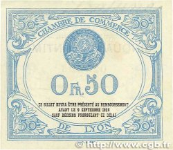 50 Centimes FRANCE régionalisme et divers Lyon 1915 JP.077.04 TTB+