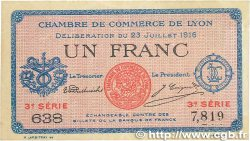 1 Franc FRANCE régionalisme et divers LYON 1916 JP.077.10 TTB