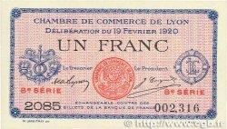 1 Franc FRANCE régionalisme et divers LYON 1920 JP.077.21 SPL