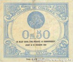 50 Centimes FRANCE régionalisme et divers LYON 1922 JP.077.26 TTB