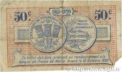 50 Centimes FRANCE régionalisme et divers Melun 1915 JP.080.01 B+