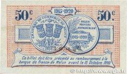 50 Centimes FRANCE régionalisme et divers MELUN 1915 JP.080.02 TTB