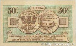 50 Centimes FRANCE régionalisme et divers MELUN 1919 JP.080.07 TTB