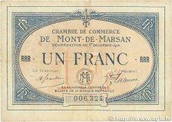 1 Franc FRANCE régionalisme et divers MONT-DE-MARSAN 1914 JP.082.08 pr.TTB