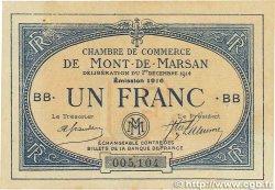 1 Franc FRANCE régionalisme et divers Mont-De-Marsan 1914 JP.082.16 TTB