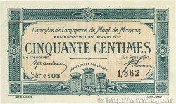 50 Centimes FRANCE régionalisme et divers MONT-DE-MARSAN 1917 JP.082.18 SPL+