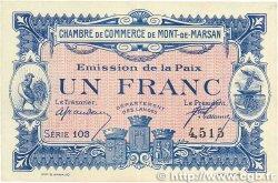 1 Franc FRANCE régionalisme et divers MONT-DE-MARSAN 1918 JP.082.32 TTB+