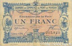 1 Franc FRANCE régionalisme et divers Mont-De-Marsan 1921 JP.082.35 TB