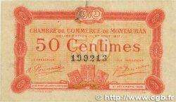 50 Centimes FRANCE régionalisme et divers MONTAUBAN 1917 JP.083.13 pr.TTB
