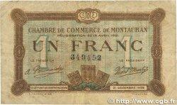 1 Franc FRANCE régionalisme et divers MONTAUBAN 1921 JP.083.19 TB