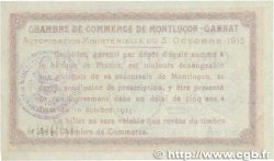 50 Centimes FRANCE régionalisme et divers Montluçon, Gannat 1915 JP.084.13 SUP
