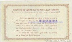 2 Francs FRANCE régionalisme et divers MONTLUÇON, GANNAT 1915 JP.084.19 TTB