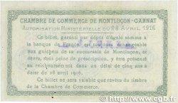 50 Centimes FRANCE régionalisme et divers MONTLUÇON-GANNAT 1916 JP.084.22 TTB