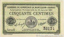 50 Centimes FRANCE régionalisme et divers MONTLUÇON-GANNAT 1921 JP.084.56 TTB