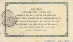 1 Franc FRANCE régionalisme et divers Montluçon, Gannat 1921 JP.084.58 TTB