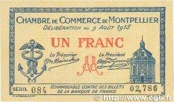 1 Franc FRANCE régionalisme et divers MONTPELLIER 1915 JP.085.10 SPL