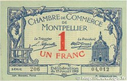 1 Franc FRANCE régionalisme et divers MONTPELLIER 1919 JP.085.21 TTB+