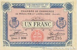 1 Franc FRANCE régionalisme et divers Moulins et Lapalisse 1920 JP.086.20 TTB+