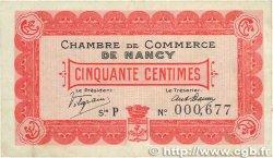50 Centimes FRANCE régionalisme et divers Nancy 1915 JP.087.01 TB