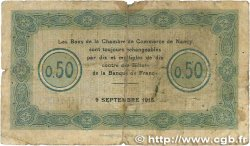 50 Centimes FRANCE régionalisme et divers Nancy 1915 JP.087.01 B