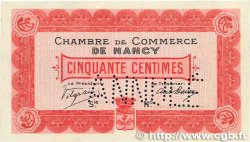 50 Centimes FRANCE régionalisme et divers Nancy 1915 JP.087.02 SUP