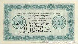 50 Centimes FRANCE régionalisme et divers NANCY 1915 JP.087.02 SUP