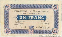 1 Franc FRANCE régionalisme et divers Nancy 1915 JP.087.03 TB