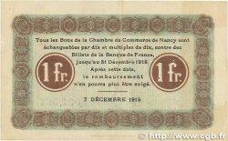 1 Franc FRANCE régionalisme et divers Nancy 1915 JP.087.05 TTB